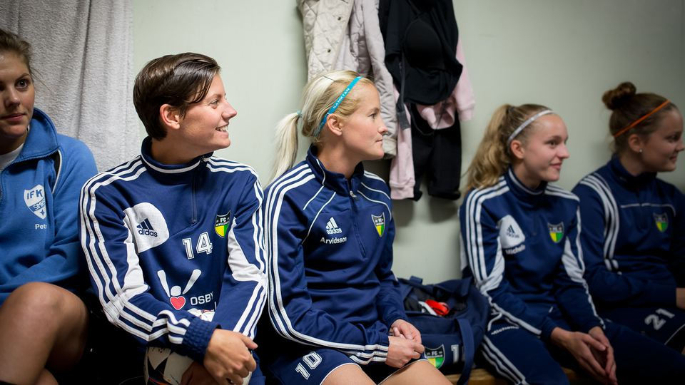 Players from Vittsjö GIK, a ladies´team in Swedish soccer-league
